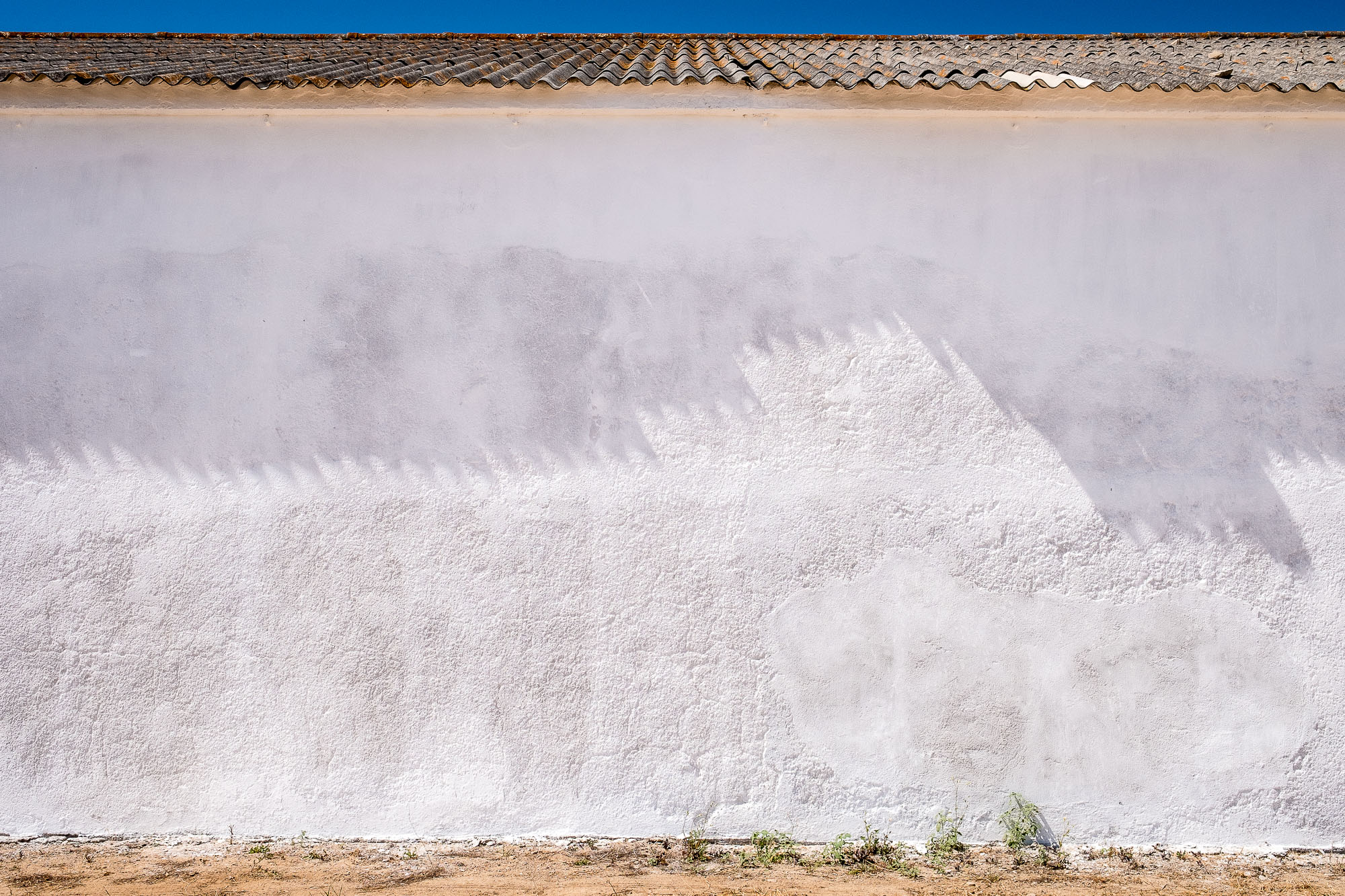 color photography inspiration, color in photography, examples of color in photography, photography of color, photography colours | Photo: White wall in Tavira, Portugal | Copyright Karin van Mierlo, Photography Playground