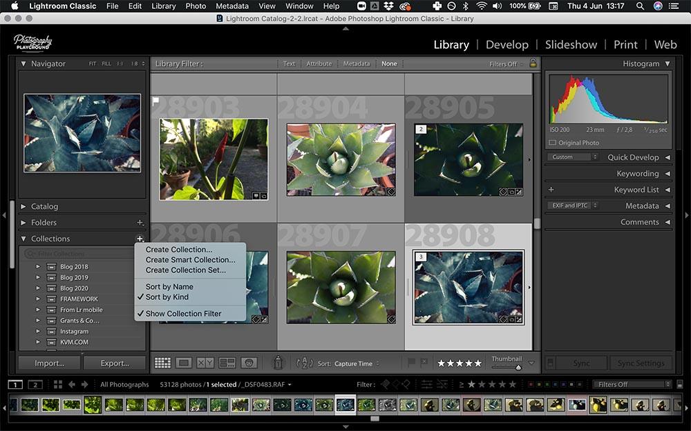 Lightroom hacks  Photo: Screenshot of Lightroom collections © Karin van Mierlo   Photography Playground.
