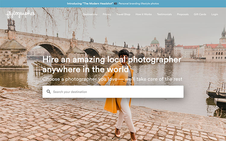 make money with photography, How to make money as a photographer | Screenshot Flytographer
