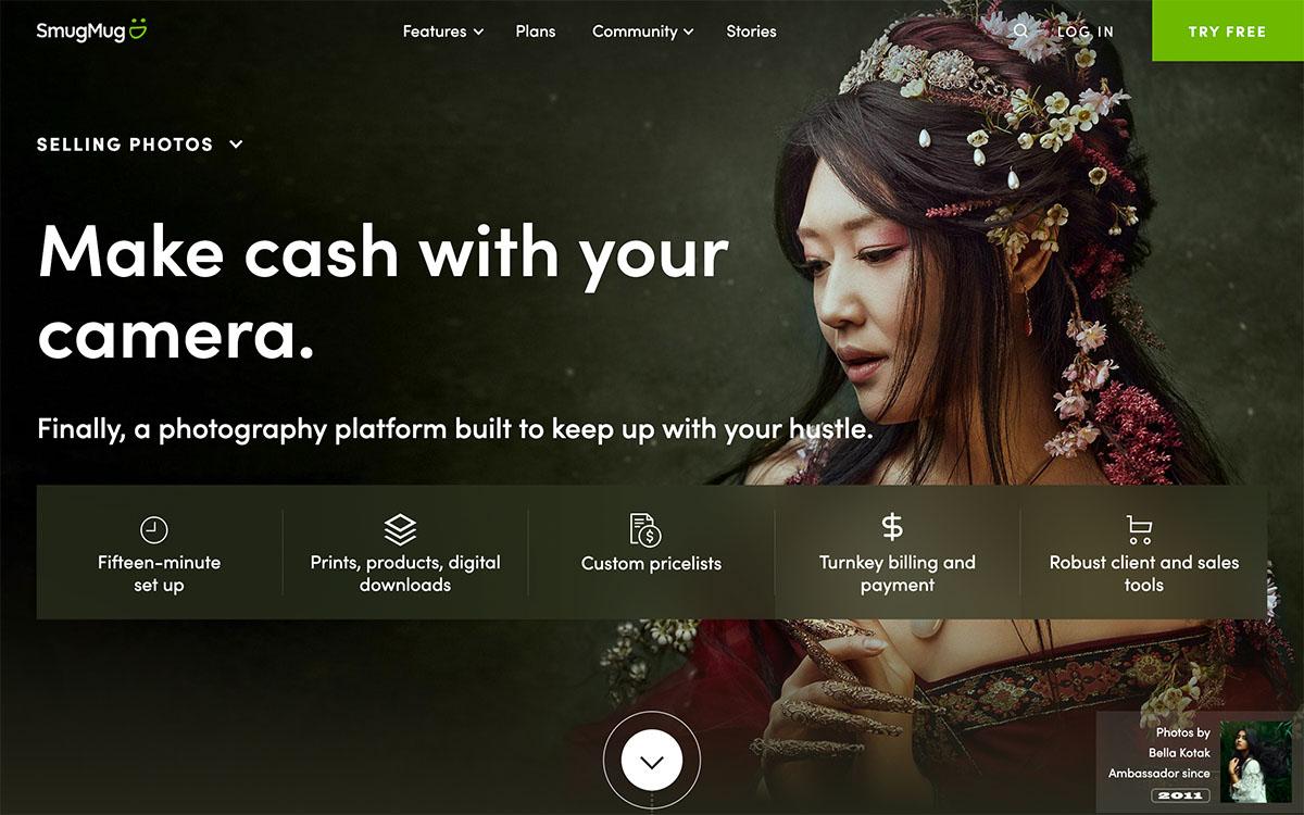 make money with photography, How to sell photos online and make money | Screenshot Smugmug