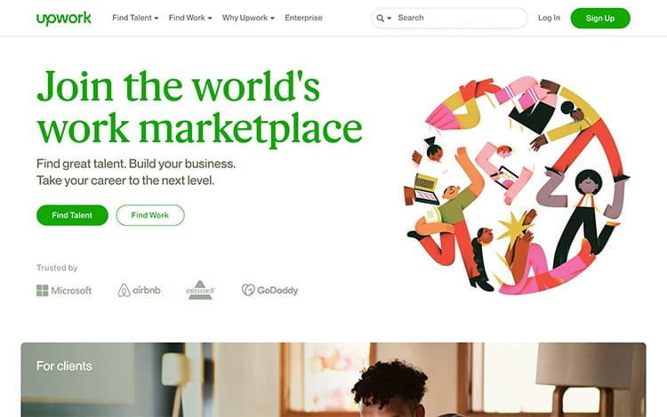 How to make money with photography online | Screenshot Upwork